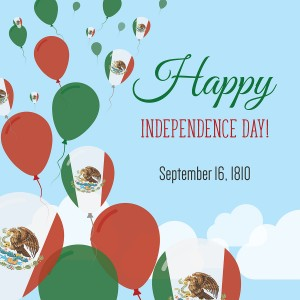 Mexican independence day braahmam learning solutions independence day flat greeting card mexico independence day mexican flag balloons patriotic poster m4hsunfo
