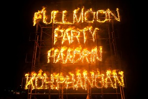 PHANGAN, THAILAND - MAY 15, 2014, There are about 10,000 people every month at this Phangan beach Full moon party, on May 15, 2014 in Koh Phangan , Thailand .